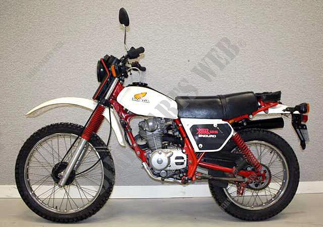 XR125B L125S HONDA Moto XR 125 125 1981 FRANCE Pices ...
