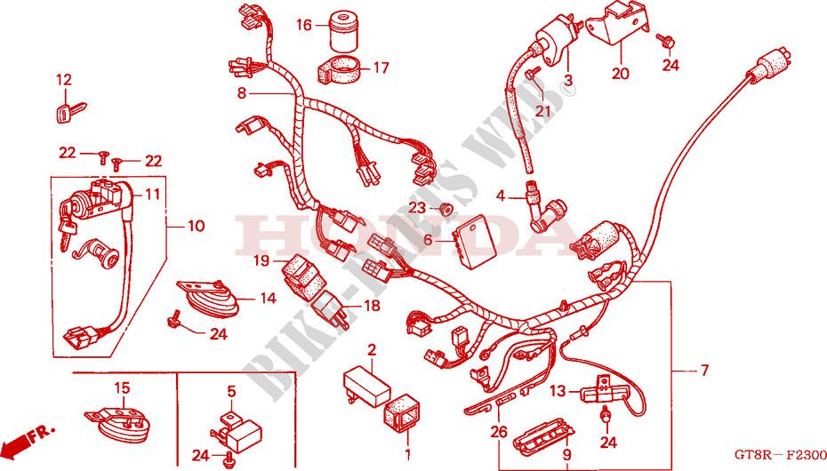 Wooya Universal 8//10Mm Ronde R/étro Modifi/é Moto Moto Cafe Racer R/étroviseur Miroirs-Chrome