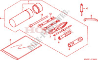 OUTILS Chassis 450 honda-moto FOURTRAX 2003 F__3400