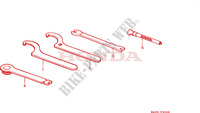 OUTILS Chassis 125 honda-moto CR 1989 F__2100