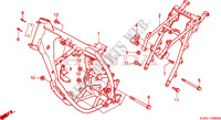 CARROSSERIE DE CHASSIS Chassis 125 honda-moto CRM 1997 F__2900