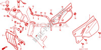 COUVERCLE LATERAL/RESERVOIR D'HUILE Chassis 125 honda-moto CRM 1997 F__1600