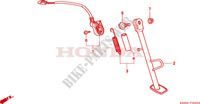 BEQUILLE LATERALE Chassis 125 honda-moto NSR 2001 F__2200