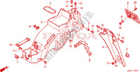 GARDE-BOUE ARRIERE Chassis 125 honda-moto NSR 2001 F__2500