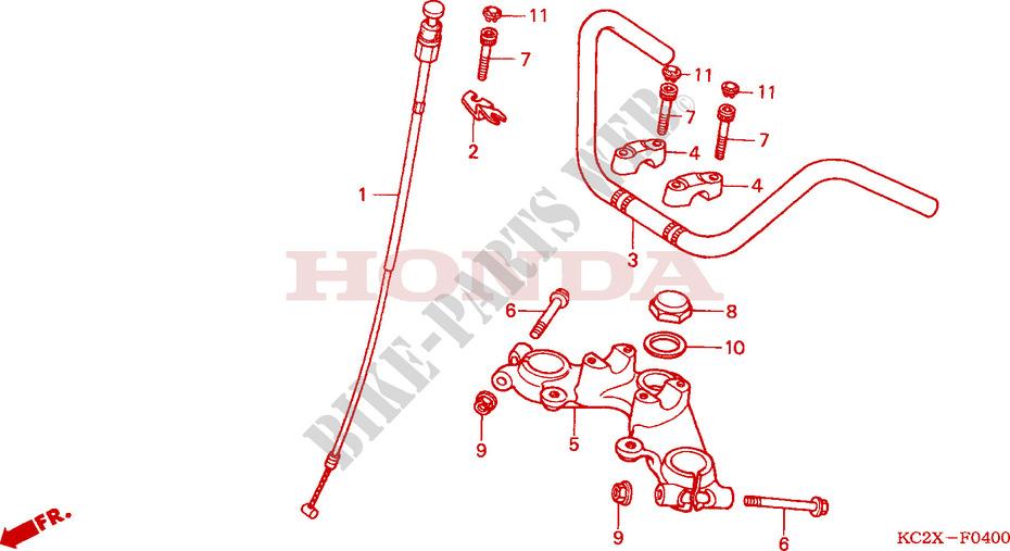 poign/ées de Guidon Moto enserre Honda CB125F extr/émit/és for CB500 CB190r CB1300 CB1000 CB1000R CB500F Hornet CB300F CB599 CB600F Color : Gold CHENWEI
