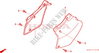 COUVERCLE LATERAL Chassis 250 honda-moto XR 1997 F__1600