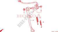 BEQUILLE Chassis 125 honda-moto REBEL 1998 F__2000