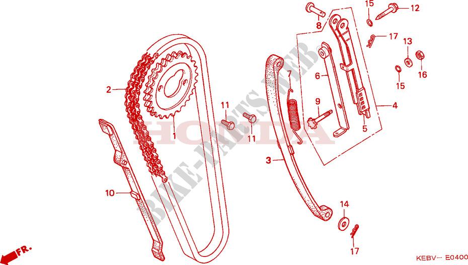 Chaine A Cames Tendeur Pour Honda Rebel 125 De 1997 Honda