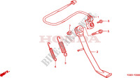 BEQUILLE LATERALE Chassis 125 honda-moto VT 2000 F__2000