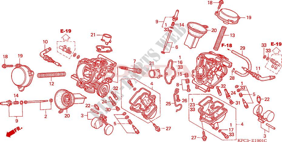 carburateur pieces constitutives moteur xl125v5 2005 varadero 125 moto honda moto honda moto. Black Bedroom Furniture Sets. Home Design Ideas