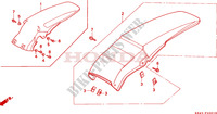 GARDE-BOUE ARRIERE (SAUF CR125RL) Chassis 125 honda-moto CR 1993 F__2001