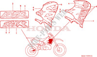MARQUE(CR125RP/RR) Chassis 125 honda-moto CR 1993 F__2501