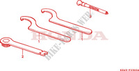 OUTILS Chassis 125 honda-moto CR 1993 F__2300