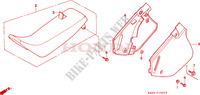 SIEGE/COUVERCLE LATERAL (CR125RP/RR/RS/RT/RV) Chassis 125 honda-moto CR 1993 F__1302
