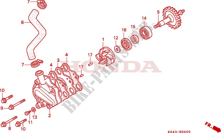 Honda CR 125 1987-2004 Pompe à eau joint