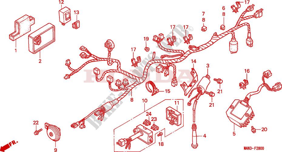 Faisceau Des Fils   Bobine D U0026 39 Allumage Pour Honda Dominator
