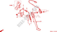 BEQUILLE Chassis 1000 honda-moto VTR 1997 F__2100