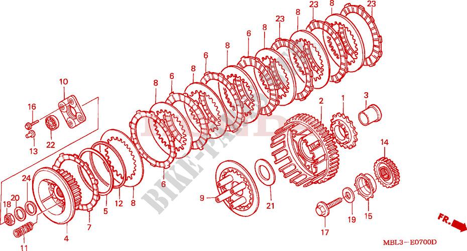 Deauville 650 : commande embrayage inactive après remplacement des disques EMBRAYAGE-Honda-MOTO-650-DEAUVILLE-1999-NT650VX-E__0700