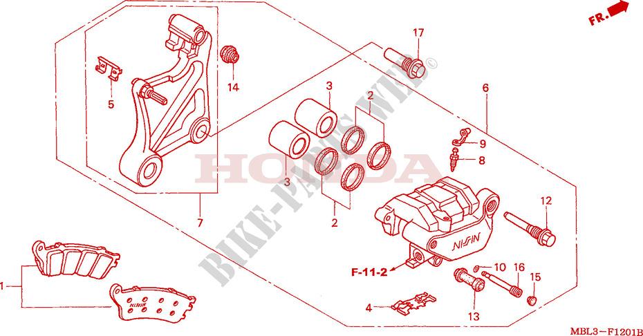 [DOUBLON] DEAUVILLE 650 2003 : Démontage de l'étrier de frein arrière  ETRIER-DE-FREIN-ARRIERE-NT650V2-3-4-5-Honda-MOTO-650-DEAUVILLE-2003-NT650V3-F__1201
