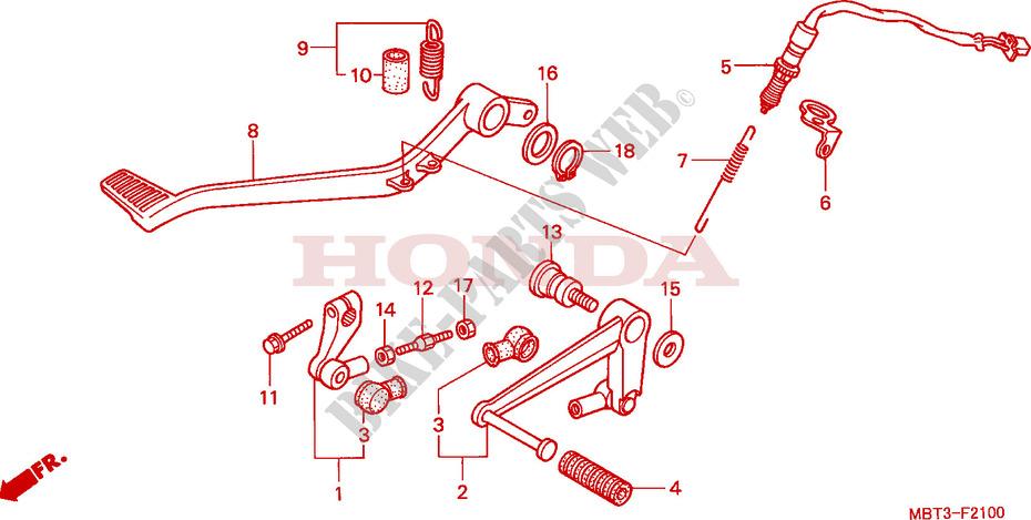 VARADERO 1000 - jeu dans le selecteur de vitesses PEDALE-Honda-MOTO-1000-VARADERO-2001-XL1000V1-F__2100