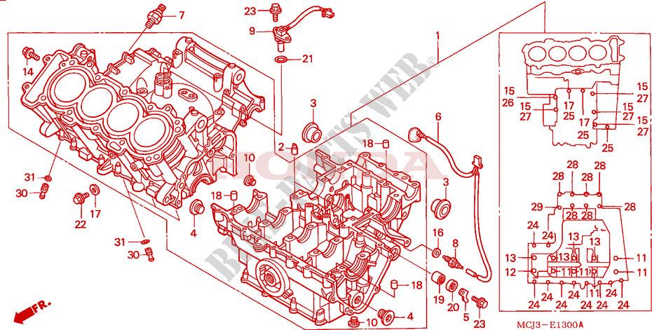 Joint de selecteur de vitesse CBR 929 CARTER-MOTEUR-Honda-MOTO-900-CBR-2001-CBR900RR1-E__1300