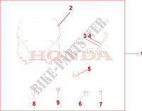 WINDSHIELD Accessoires 600 honda-moto SILVERWING 2002 08R8001