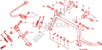 BEQUILLE Chassis 600 honda-moto SILVERWING 2006 F__2500