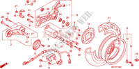 ROUE ARRIERE Chassis 600 honda-moto SILVERWING 2006 F__1800