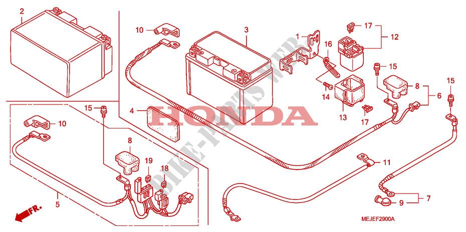 sc54 Incl Année de construction 05-13 Gel Batterie Sans Entretien Honda CB 1300 S ABS consigne