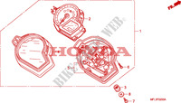 COMPTEUR Chassis 1000 honda-moto CBR 2008 F__0200