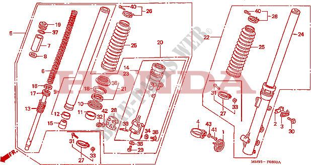 [RCH]Disque de frein avant HONDA 600 TRANSALP + patte durite FOURCHE-Honda-MOTO-600-TRANSALP-1992-XL600VN-F__0800
