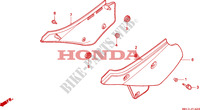 COUVERCLE LATERAL Honda moto microfiche diagrame XR600RR 1994 XR 600