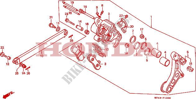 Etrier Frein Réparation Phrase devant 18-3068 pour HONDA CBR 600 F cbr600 Bj 1991-1994