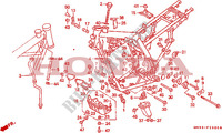 CARROSSERIE DE CHASSIS Chassis 650 honda-moto NX 1990 F__2900