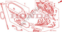 COMPTEUR Chassis 650 honda-moto NX 1990 F__0200