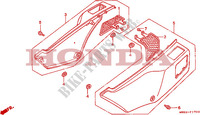 COUVERCLE LATERAL Chassis 650 honda-moto NX 1990 F__1700