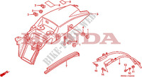 GARDE-BOUE ARRIERE Chassis 650 honda-moto NX 1990 F__2500