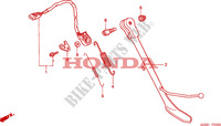 BEQUILLE LATERALE pour Honda VALKYRIE 1500 DELUXE de 2002
