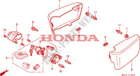 COUVERCLE LATERAL Chassis 1500 honda-moto GOLD-WING 1999 F__1800