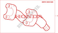 REHAUSSE DE GUIDON CHROME pour Honda F6C 1500 de 1999
