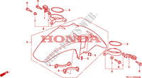AILE AVANT pour Honda BIG ONE 1000 de 1995