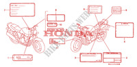 ETIQUETTE DE PRECAUTIONS pour Honda BIG ONE 1000 de 1995