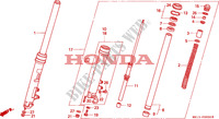 FOURCHETTE AVANT pour Honda BIG ONE 1000 de 1995