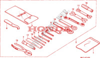 OUTILS Chassis 1000 honda-moto CB 1993 F__3100