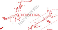 PEDALE pour Honda BIG ONE 1000 de 1995
