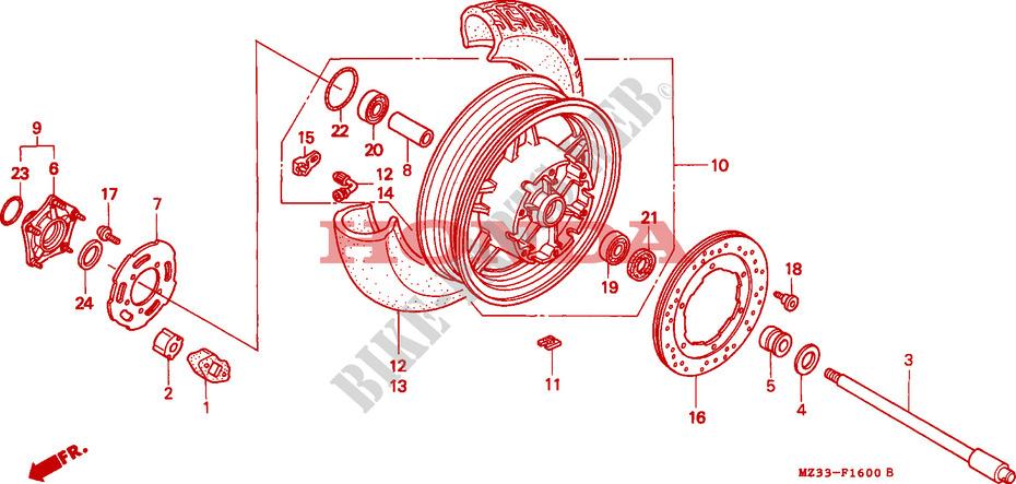 démontage roue arrière ROUE-ARRIERE-Honda-MOTO-1500-GOLD-WING-1996-GL1500SET-F__1600