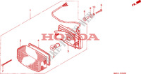 FEU ARRIERE Chassis 750 honda-moto VF 1996 F__2600