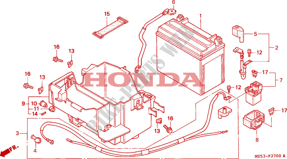 BATTERIE pour Honda SHADOW 750 de 1994