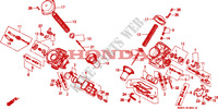 CARBURATEUR (PIECES CONSTITUTIVES) Moteur 600 honda-moto VT 1996 E__1801
