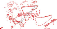 COUVERCLE LATERAL Chassis 600 honda-moto VT 1996 F__1500